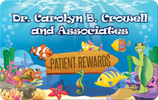 Patient Rewards card for Dr. Carolyn Crowell
